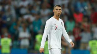 Le capitaine du Portugal Cristiano Ronaldo, ici lors d'un match de Coupe du monde à Sotchi, le 30 juin 2018, reste incertain pour la réception de la Croatie