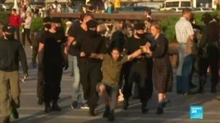 2020-08-25 07:09 Biélorussie : nouvelles arrestations d'opposants après une manifestation monstre