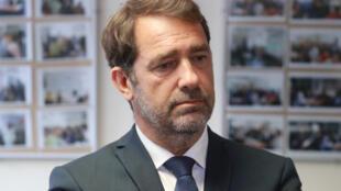 Le ministre de l'Intérieur Christophe Castaner en visite à Evry, le 5 juin 2020.