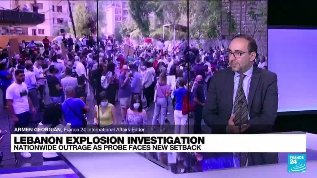 2021-09-29 15:08 Families protest suspension of Lebanon blast probe