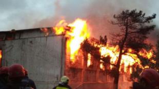 حريق في عيادة لمدمني المخدرات في باكو