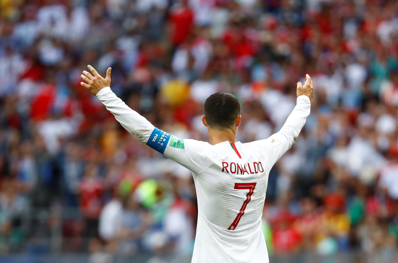 Cristiano Ronaldo, el capitán de Portugal y autor del único gol del partido, celebrando la victoria frente a Marruecos.