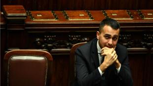 Le vice-président du Conseil italien, Luigi Di Maio, au Parlement italien, à Rome, le 29 décembre 2018.