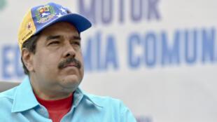 Le président Nicolás Maduro durant un rassemblement à Caracas le 14 mai 2016.