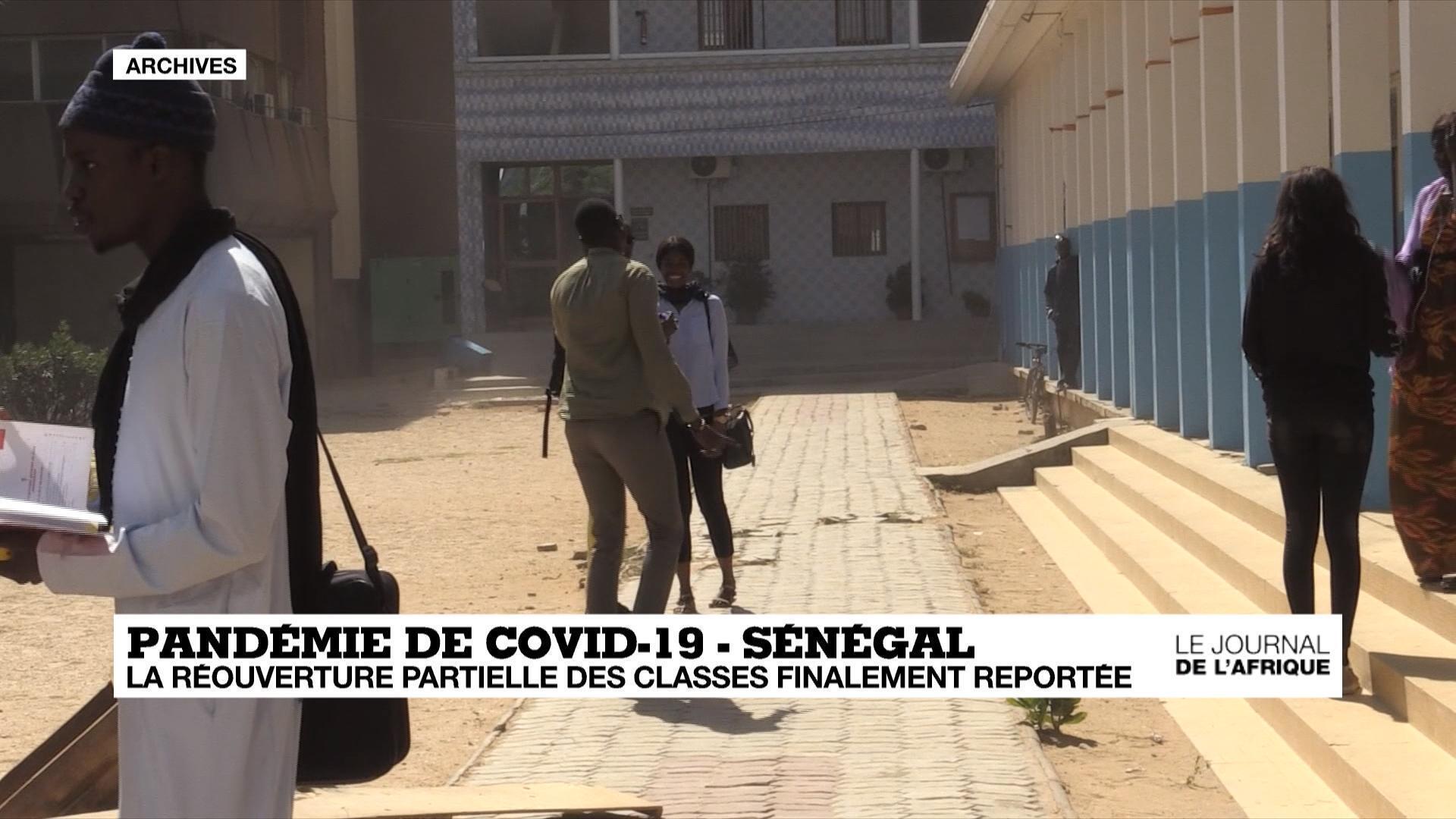 Rentrée scolaire reportée à Dakar.