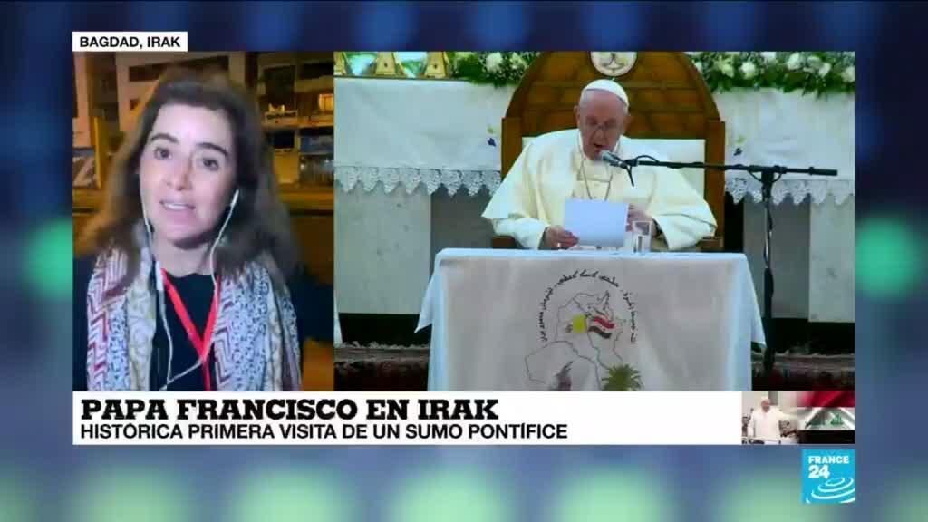 2021-03-05 18:03 Informe desde Bagdad: el papa Francisco llegó a Irak en medio de las restricciones por el Covid-19