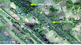 Images à l'appui, l'ONG Amnesty International affirme que des constructions militaires ont remplacé le village détruit d'Inn Din.