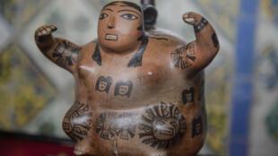 En el Ministerio de Relaciones Exteriores de Lima, el 20 de septiembre de 2018, se exhiben piezas arqueológicas repatriadas de diferentes culturas peruanas.