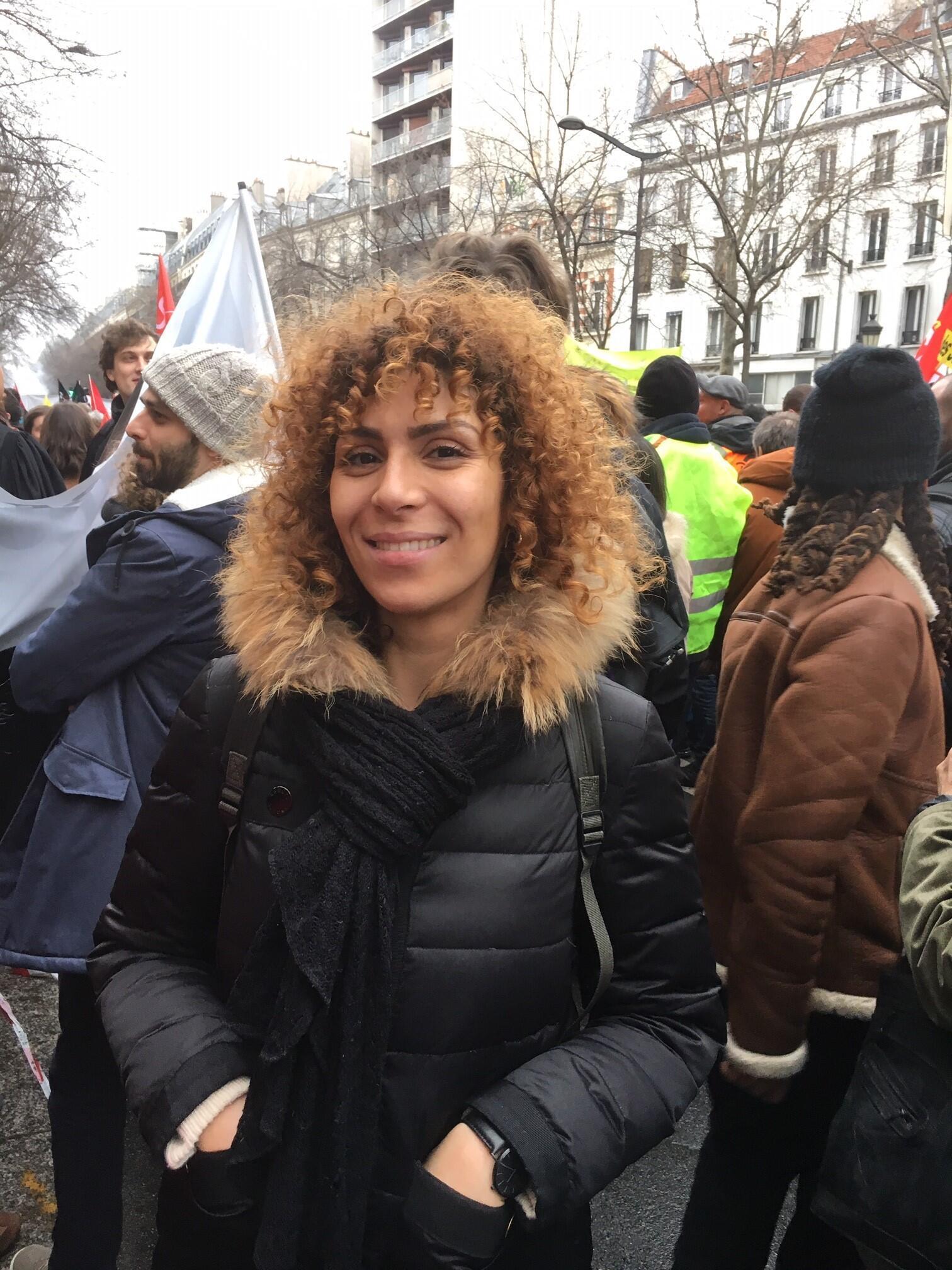 "Marie Sabrina, 34, a teacher from Seine Saint-Denis, said Macron ""needs to listen to the street""."