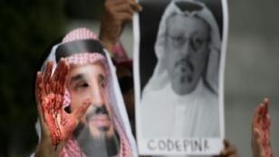 مظاهرات في واشنطن منددة باختفاء الصحافي السعودي المعارض جمال خاشقجي. 8 تشرين الأول/أكتوبر 2018.