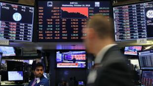 La Bourse de New York a connu, mercredi 10 octobre, sa pire journée en neuf mois.