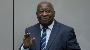 L'ancien président ivoirien Laurent Gbagbo à la Cour pénale internationale, le 15janvier2019.