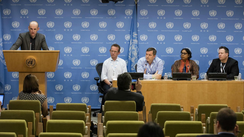 Présentation d'ID2020 au siège de l'ONU, à New York, le 20 mai 2016.