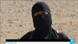 """Capture d'écran d'une vidéo de propagande où apparaît """"Jihadi John""""."""