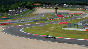 Nico Rosberg's Mercedes navigates a bend at the Nurburgring in 2013, the last time a Grand Prix was held there but the historic German circuit will be pressed into action this season