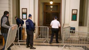 La cour d'appel de Bruxelles le 29 janvier 2016 lors de l'ouverture du procès de Khalid Zerkani.