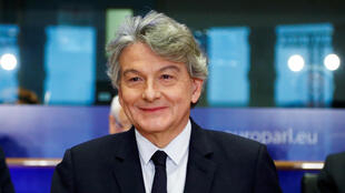 Thierry Breton appears before a European Parliamentary hearing in Brussels, Nov. 14, 2019.