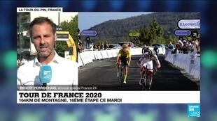 The 16th stage of the Tour de France has a mid-mountain profile.