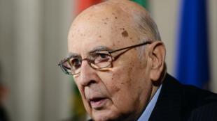 Le président italien Giorgio Napolitano a démissionné ce mercredi 14 janvier.