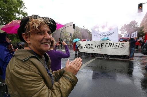 مظاهرة داعمة للمهاجرين بدون أوراق إقامة في ألمانيا