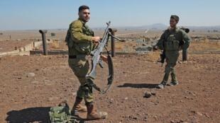Un soldat israélien à la frontière entre la Syrie et Israël, le 10 juillet 2018.