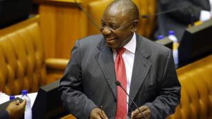 Cyril Ramaphosa au Parlement, à Cape Town, le 15 février 2018.