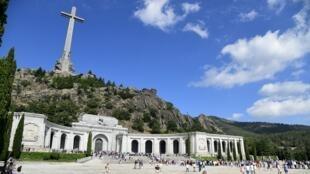 Le mausolée dans lequel repose la dépouille de Franco, à San Lorenzo del Escorial près de Madrid, le 15 juillet 2018.