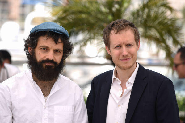 Geza Rohrig (left) stars as Saul Auslander in the stunning debut feature by Hungarian director Laszlo Nemes (right).