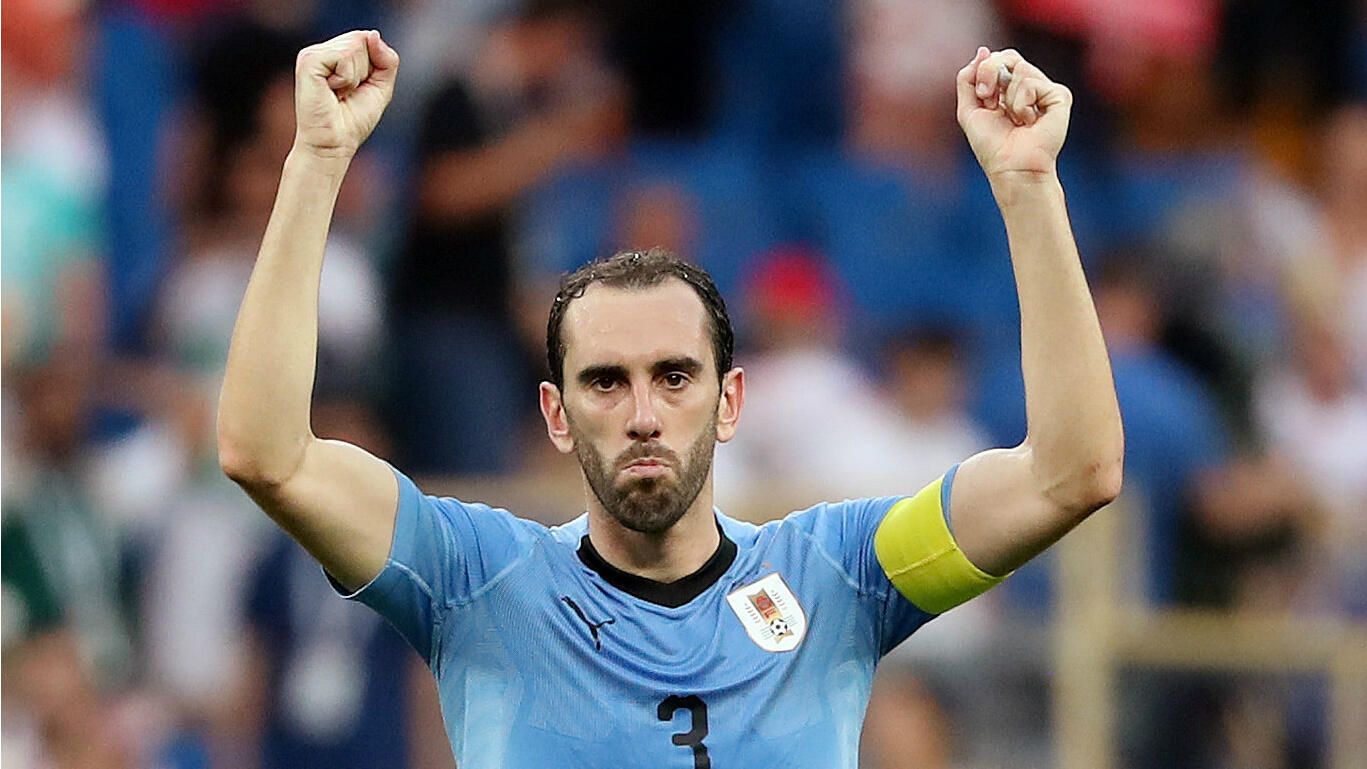 Unas horas antes, el capitán de la celeste, Diego Godín, celebraba la clasificación de su equipo tras la victoria frente a Arabia Saudita.