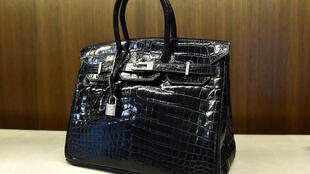 Un véritable sac Hermès Birkin, le 7 avril 2014 à New York