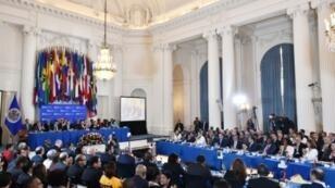 Vista general de la 48ª Asamblea General de la Organización de Estados Americanos, el 4 de junio de 2018 en la sede del organismo, en Washington