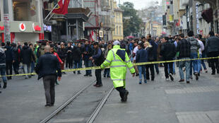 مكان العملية الانتحارية بشارع الاستقلال بإسطنبول