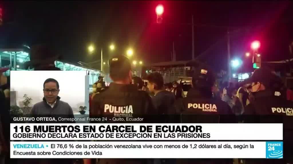 2021-09-30 14:37 Informe desde Quito: Gobierno ecuatoriano declara estado de excepción en el sistema penitenciario