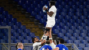 Flying high: England and Maro Itoje won in Rome to clinch last season's Six Nations title