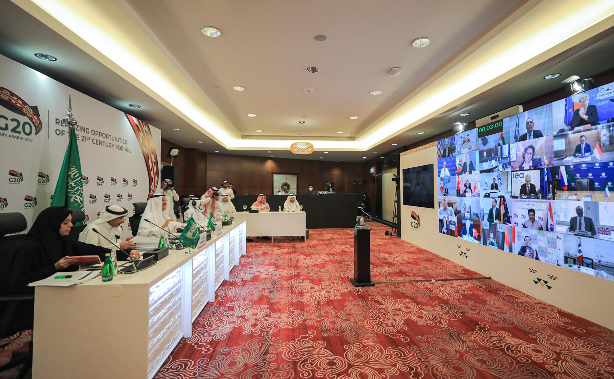 L'Arabie saoudite organise une réunion virtuelle avec les ministres des Finances du G20 et les directeurs des banques centrales, le 15 avril 2020
