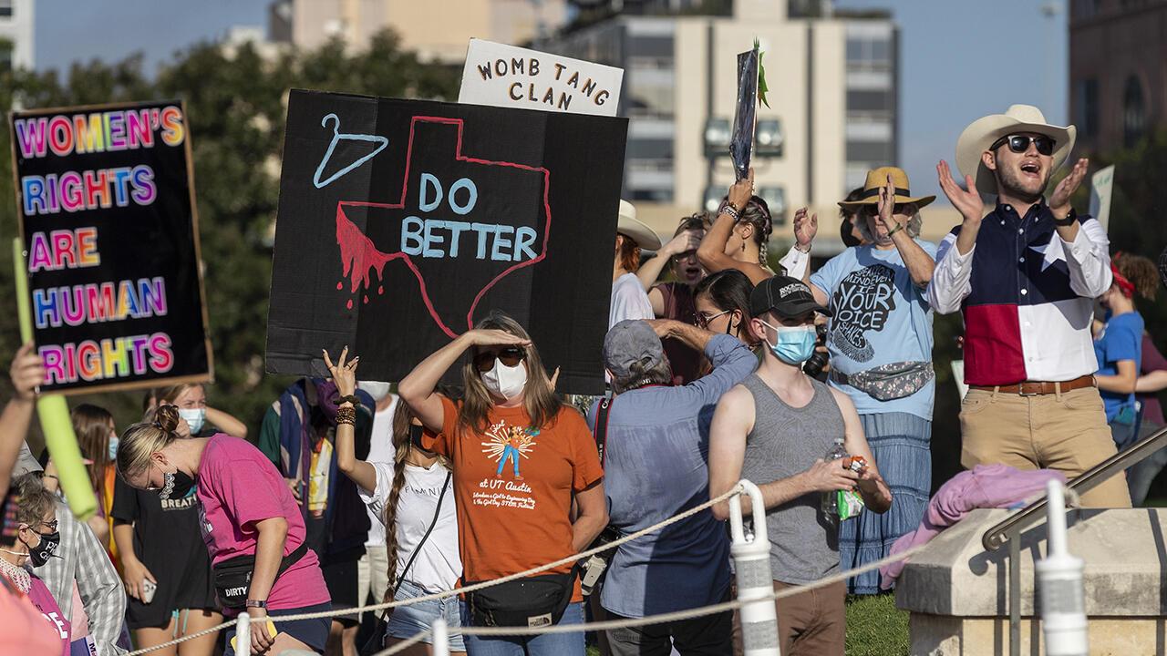Manifestación en reclamo de los derechos concernientes al aborto en el estado de Texas, en Estados Unidos, el 2 de octubre de 2021.