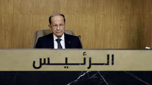 الرئيس اللبناني ميشال عون في القمة الاقتصادية العربية في بيروت عاصمة لبنان في 20 يناير/ كانون الثاني 2019