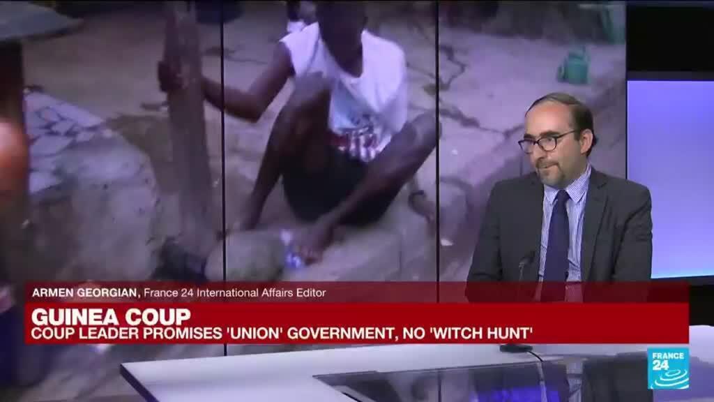 2021-09-06 15:01 Guinea coup chief vows 'union' govt, no 'witch hunt'