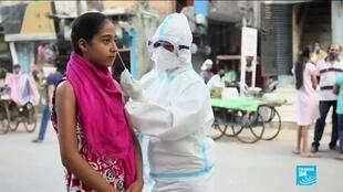 On Saturday, India recorded a total of 97,570 new infections – beating the country's daily record for a second consecutive day.