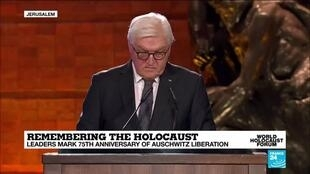 "2020-01-23 15:25 Steinmeier: ""75 years later I stand before you all laden with the heavy, historical burden of guilt"""
