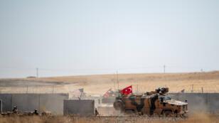 Des troupes turques et américaines à Akcakale, en Turquie, à la frontière avec la Syrie, le 8 septembre 2019.