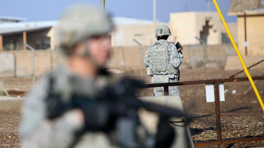 Des soldats américains près de la base de Taji en Irak, le 29 décembre 2014.