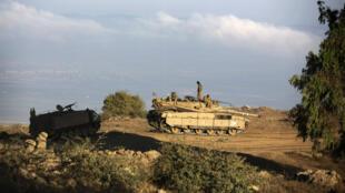 قوات إسرائيلية في هضبة الجولان السورية المحتلة
