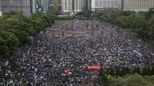 جانب من مظاهرات هونغ كونغ الأحد 18 أغسطس/آب 2019.