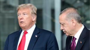 Le président américain Donald Trump et le président turc Recep Tayyip Erdogan photographiés à Bruxelles, en juillet 2018.