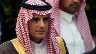 وزير الخارجية السعودي عادل الجبير في القاهرة في تشرين الثاني/نوفمبر 2017