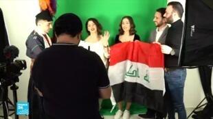 عراقيون مسيحيون لاجئون في باريس.