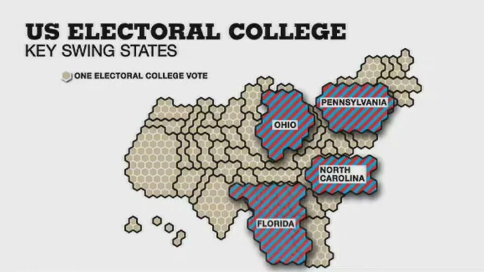 Video: The swing states that will decide the US election