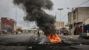 Des heurts ont éclaté dans les rues de Cotonou, mercredi 1ermai.