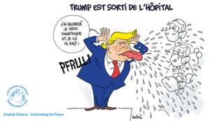 Cartooning for Peace : Trump sort de l'hôpital